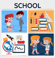 flat school square concept vector image
