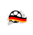 germany football club template design vector image vector image