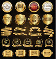 golden badges and labels retro vintage design vector image vector image