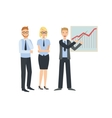 Graphic Chart Presentation Teamwork vector image