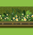 green trendy border vector image vector image