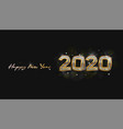 greeting card happy new year 2020 diamond with vector image vector image