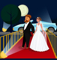 groom and bride at vip event vector image vector image