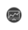growth logo vector image vector image