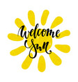 hand drawn watercolor sun icon welcome sun hand vector image