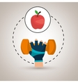 hand glove sport gym vector image vector image