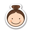 happy child face icon image vector image vector image
