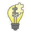 idea light bulb vector image vector image