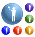 invalid person group icons set vector image
