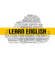 learn english word cloud course education vector image