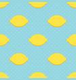 lemons and polka dots seamless pattern vector image vector image