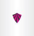 magenta black shield icon element vector image