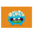 Many eyed monster vector image