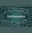 mathematical green chalkboard background vector image vector image