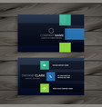 modern company dark business card design vector image vector image