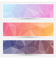 Modern crystal structure banners web vector image