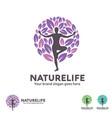 nature life yoga logo vector image vector image