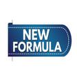 new formula banner design vector image vector image