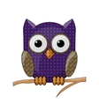 owl with a pattern vector image vector image