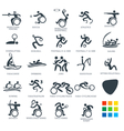 Paralympics Icon Pictograms Set 6 vector image vector image