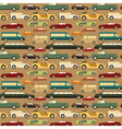 Passenger car background vector image vector image