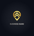 point line shape position gold logo vector image