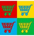 Pop art buy cart vector image