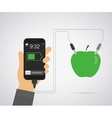 Power from apple for smartphone vector image vector image