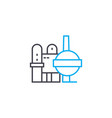 production complex linear icon concept production vector image vector image