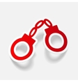 realistic design element handcuffs vector image vector image