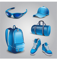 realistic sport objects icons vector image vector image