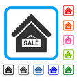 sale building framed icon vector image