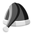 Santa hat icon gray monochrome style vector image vector image