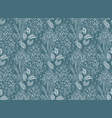 seamless pattern with hand drawn floral fantasy vector image vector image