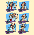 set collection radio podcaster male sports vector image