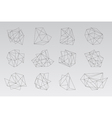 Set of geometric hipster shapes2 vector image vector image