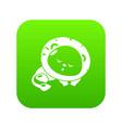 sleeping lion icon green vector image