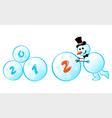 snowman 2012 vector image vector image