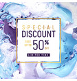 Special discount square banner template with