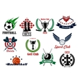 Sporting emblems icons and symbols vector image vector image