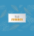 summer sale background layout for poster flyer vector image vector image