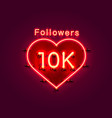 thank you followers peoples 10k online social vector image vector image