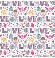 Valentines day romantic background vector image vector image