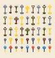 vintage keys seamless pattern vector image vector image