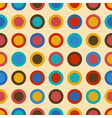 Vintage seamless pattern with colorful circles vector image vector image
