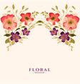 watercolor flower floral decoration template card vector image
