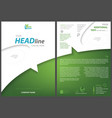 white-green flyer template vector image