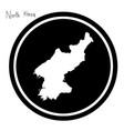 white map of north korea on black vector image