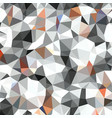 white orange dark gray triangular low poly mosaic vector image