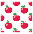 white seamless background with red apples vector image